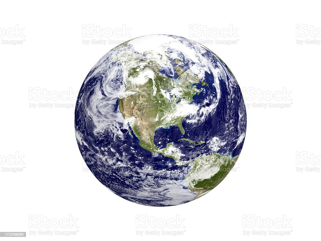 The Earth II / XXL - North America (Clipping Path) royalty-free stock photo