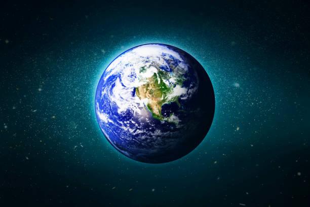 jorden i galaxen, element av denna bild från nasa - earth from space bildbanksfoton och bilder
