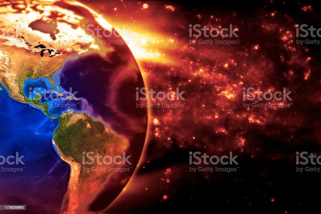 The Earth Slowly Burns - Americas royalty-free stock photo