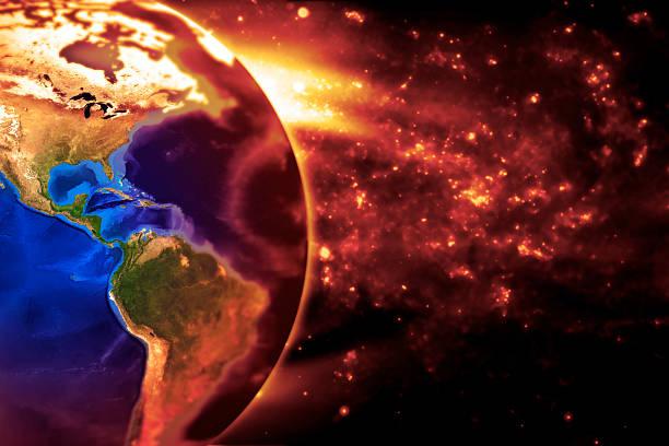 Die Erde langsam Burns – Nord- und Südamerika – Foto