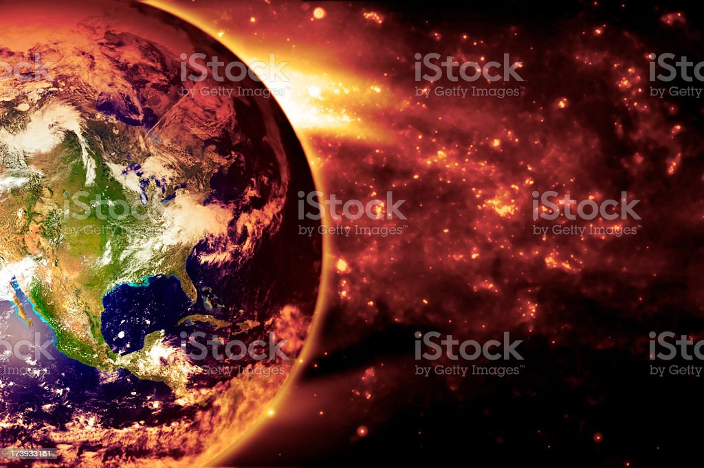 The Earth Slowly Burns - North America royalty-free stock photo