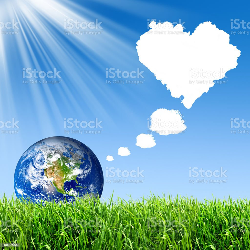 The earth wants to be loved - XXXL with copyspace stock photo