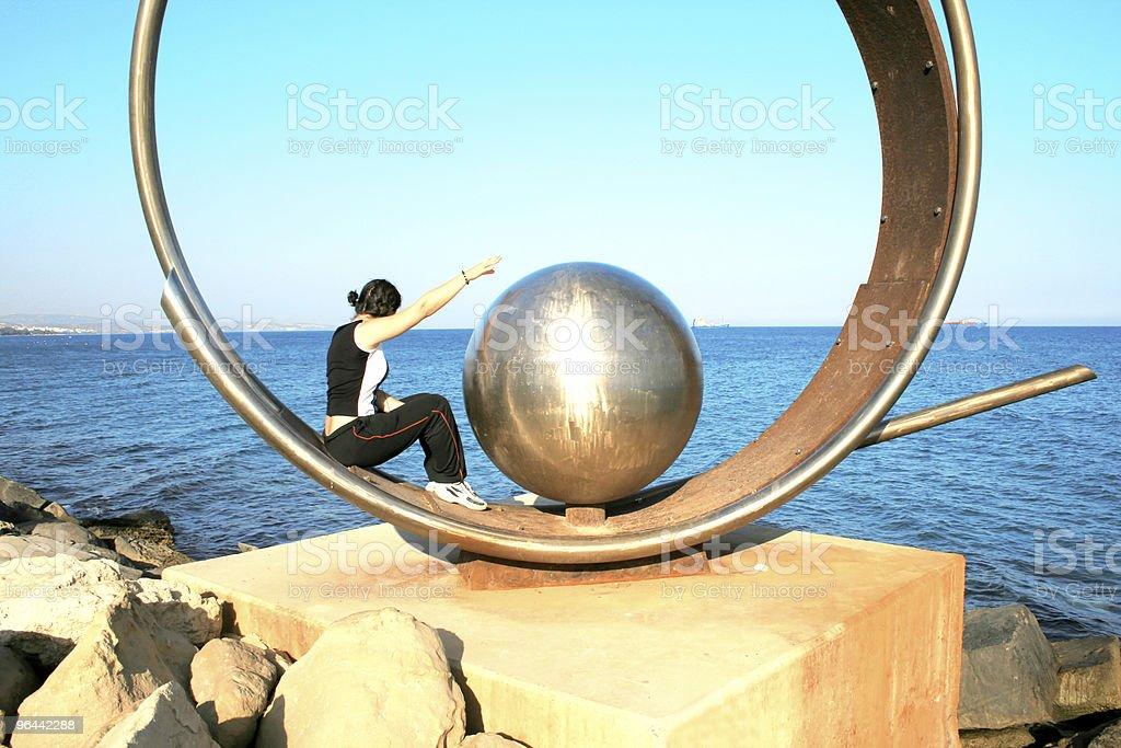 a terra, mar e uma menina - Foto de stock de Adolescente royalty-free