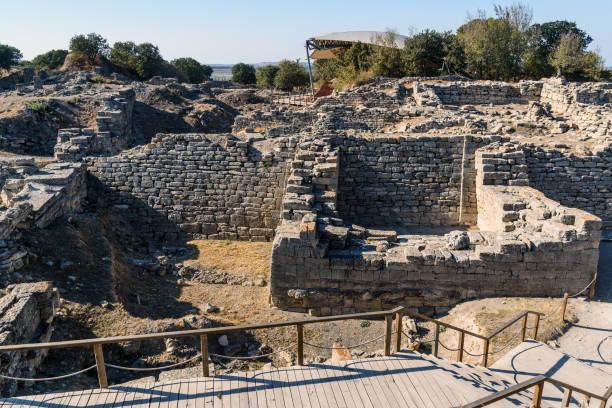 Die Ostwand und Tor in der antiken Stadt Troja. Turkei – Foto