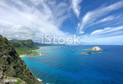 istock The Eastern Coast Line of Oahu Island, Hawaii, USA 1289479286