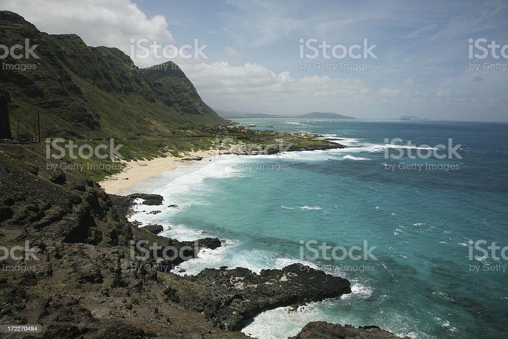 The Eastern Coast of Oahu royalty-free stock photo