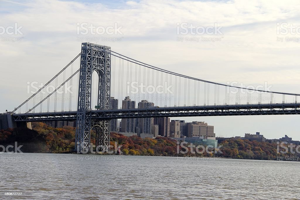 The Eastern Side of the George Washington Bridge stock photo