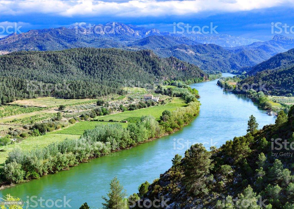 The Ebro river. stock photo