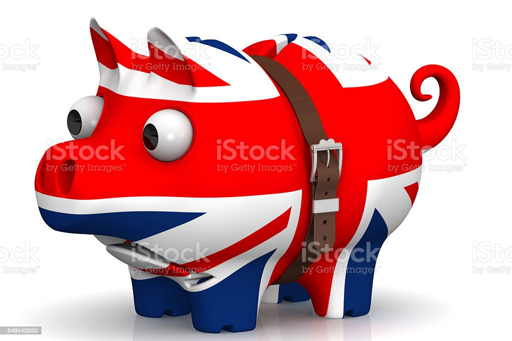 The economic crisis of the Great Britain. Concept stock photo