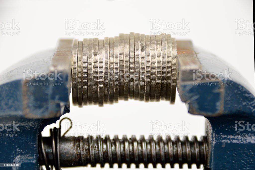 the economic crisis stock photo
