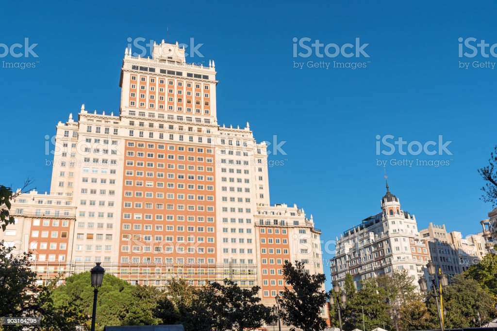 The Edificio Espana in Madrid, Spain stock photo