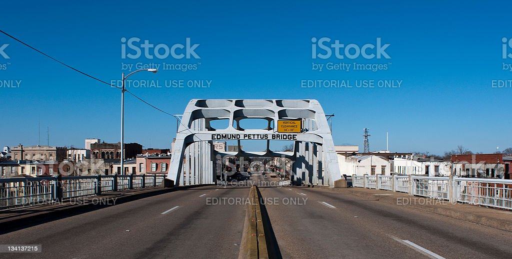 The Edmund Pettus Bridge stock photo