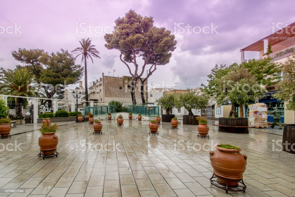 The Edwin Cerion Place in the village of Anacapri on the island of Capri - foto stock