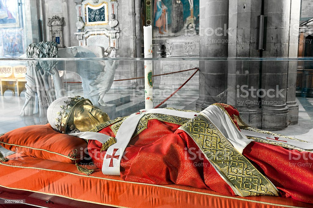 The effigy of Pope Gregory X stock photo