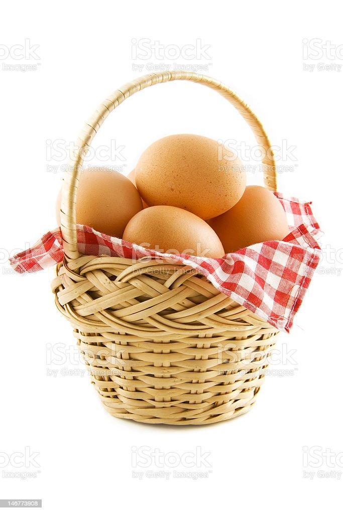 The egg basket royalty-free stock photo