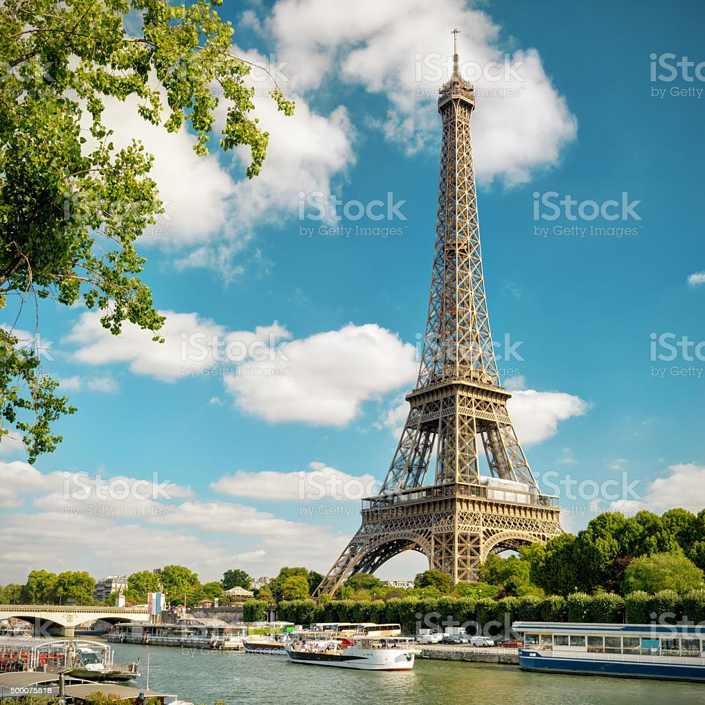 The Eiffel in Paris stock photo