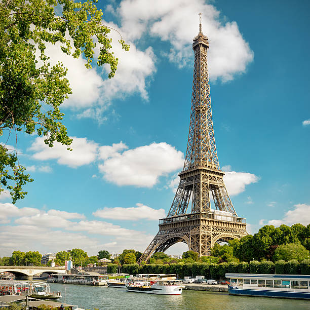 the eiffel in paris - eiffel tower stock photos and pictures