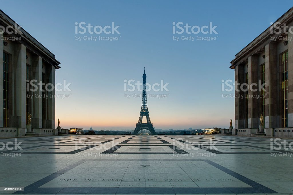 The 'Eiffel Tower' in the morning stock photo
