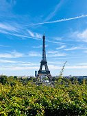 Summer in Paris, a view of The Eiffel Tower from Trocadéro