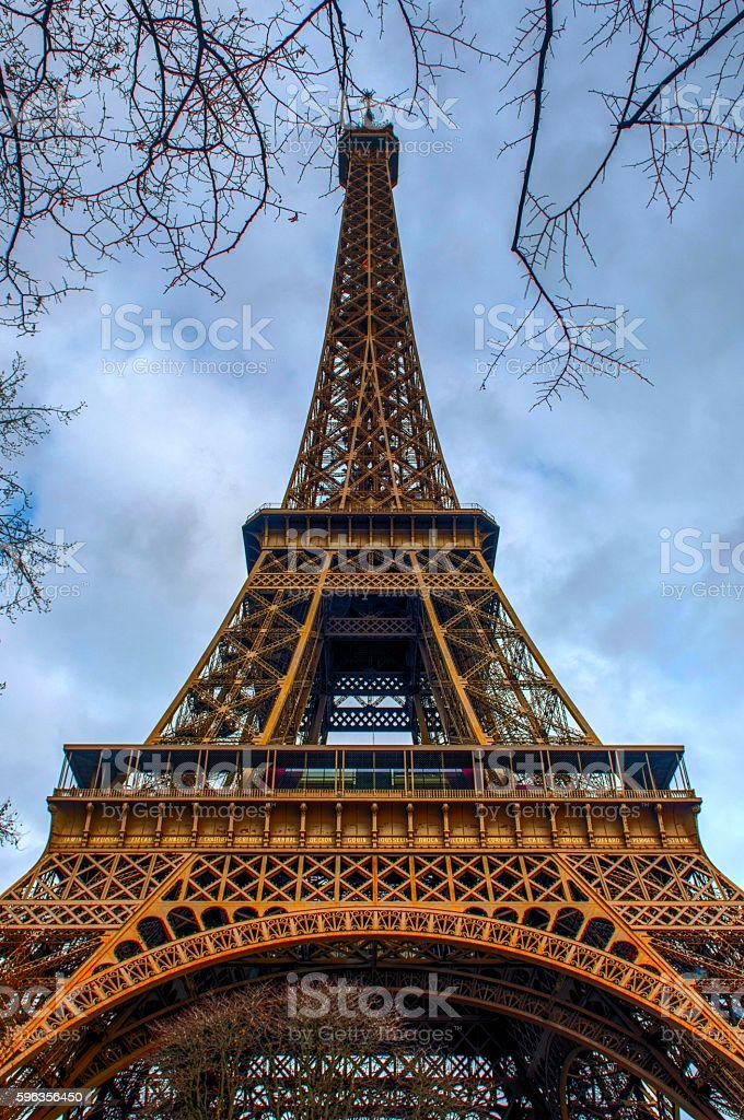 The Eiffel Tower royalty-free stock photo