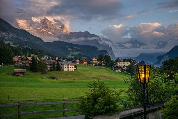 The Eiger over Wengen in Switzerland - Photo