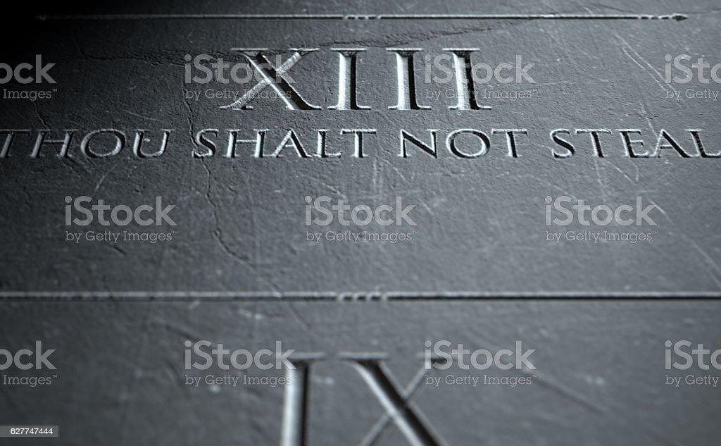 The Eighth Commandment stock photo