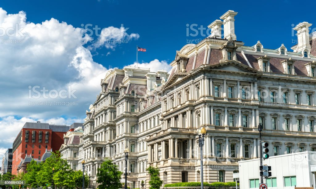 The Eisenhower Executive Office Building, a US government building in Washington, D.C stock photo