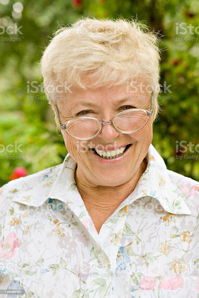 The elderly woman royalty-free stock photo