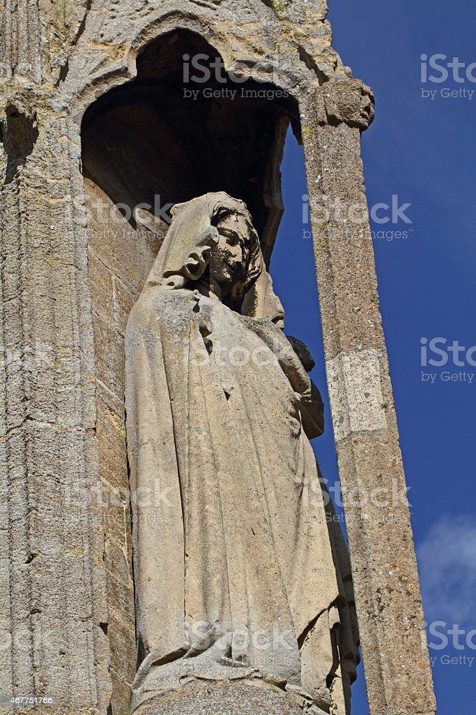 The Eleanor cross in Geddington stock photo