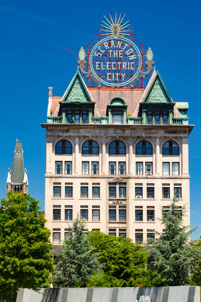 The Electric Building In Scranton, Pennsylvania stock photo