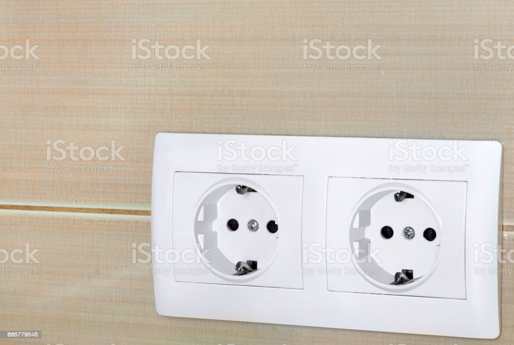 the electric socket of 220v. stock photo