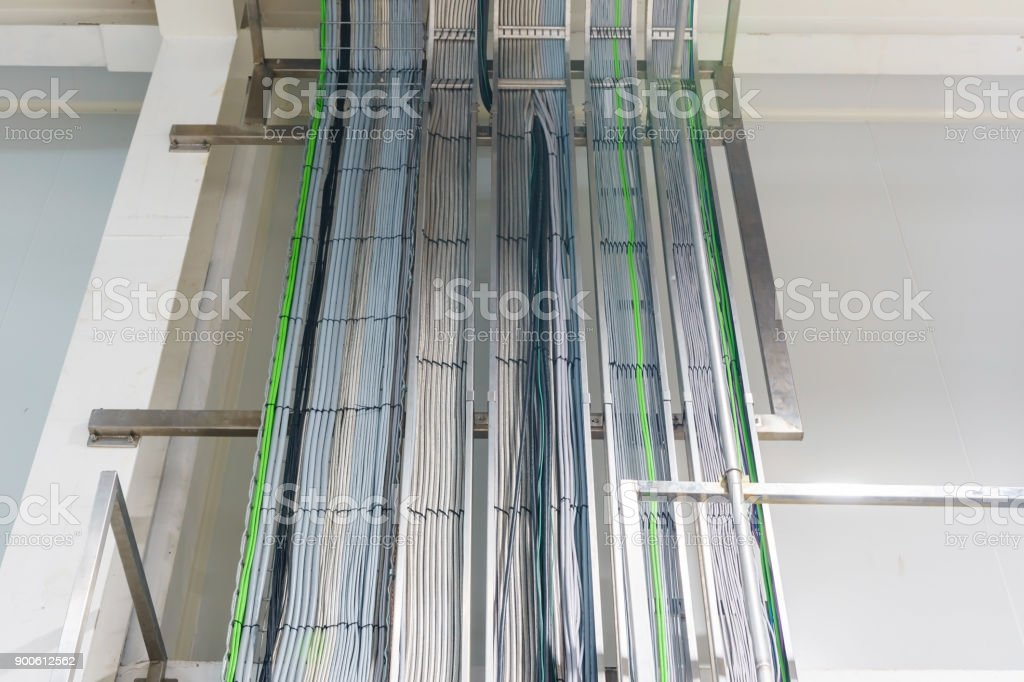the electrical wiring of buildinga cable tray system used to support rh istockphoto com maintaining electrical wiring support systems