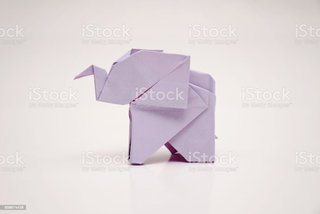 The elephant origami stock photo