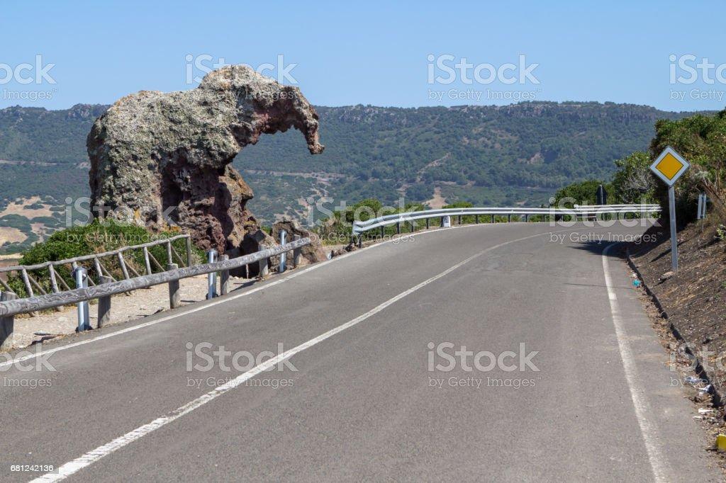 The Elephant rock, Sardinia, Italy stock photo