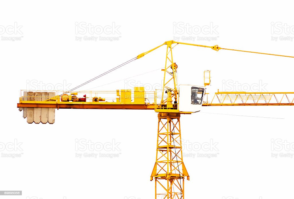The elevating crane royalty-free stock photo
