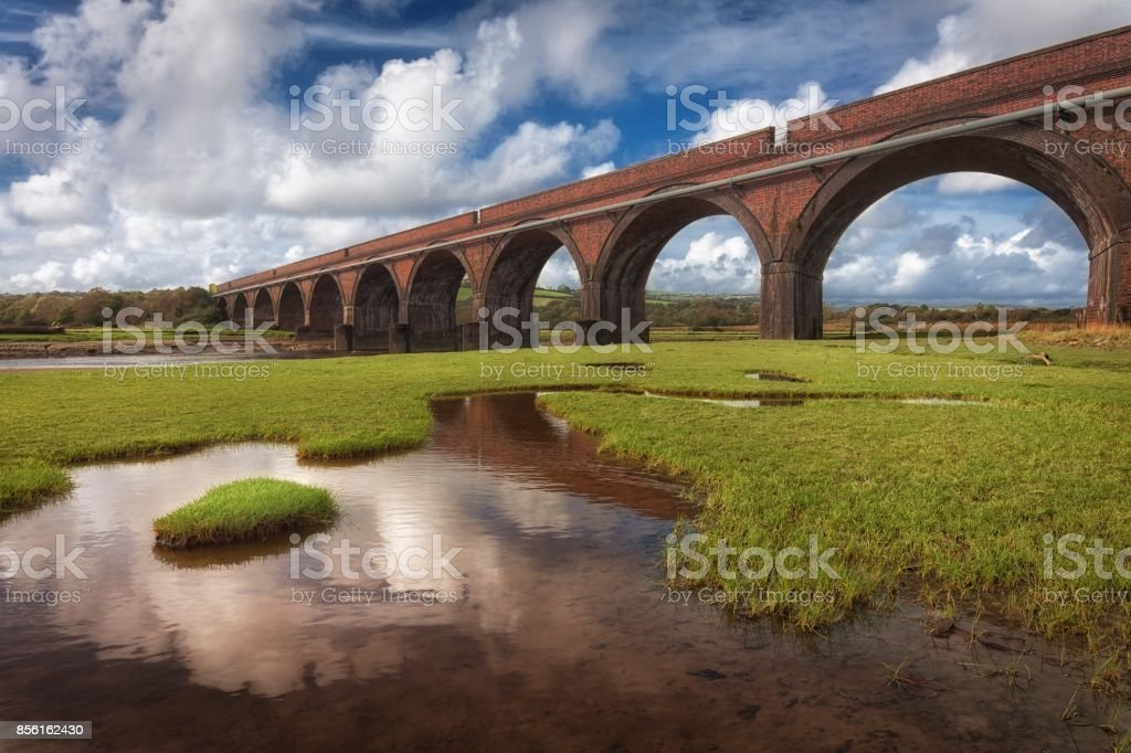 The Eleven Arches viaduct stock photo