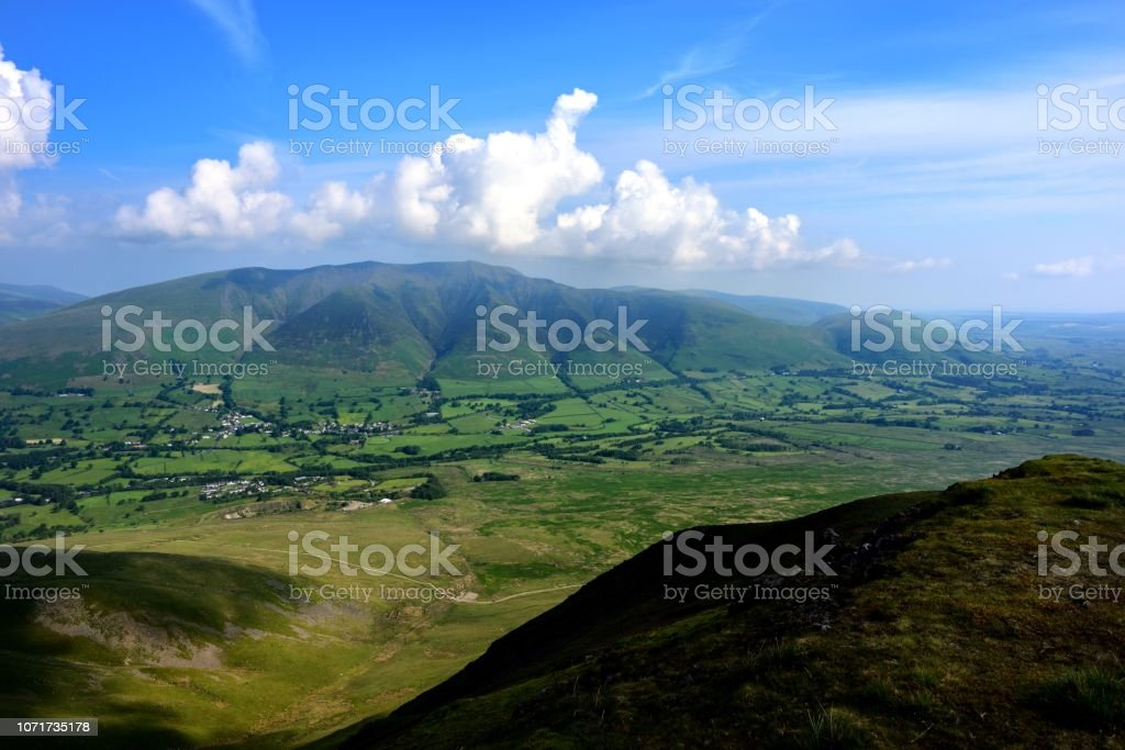 The elliptical ridge of Blencathra stock photo