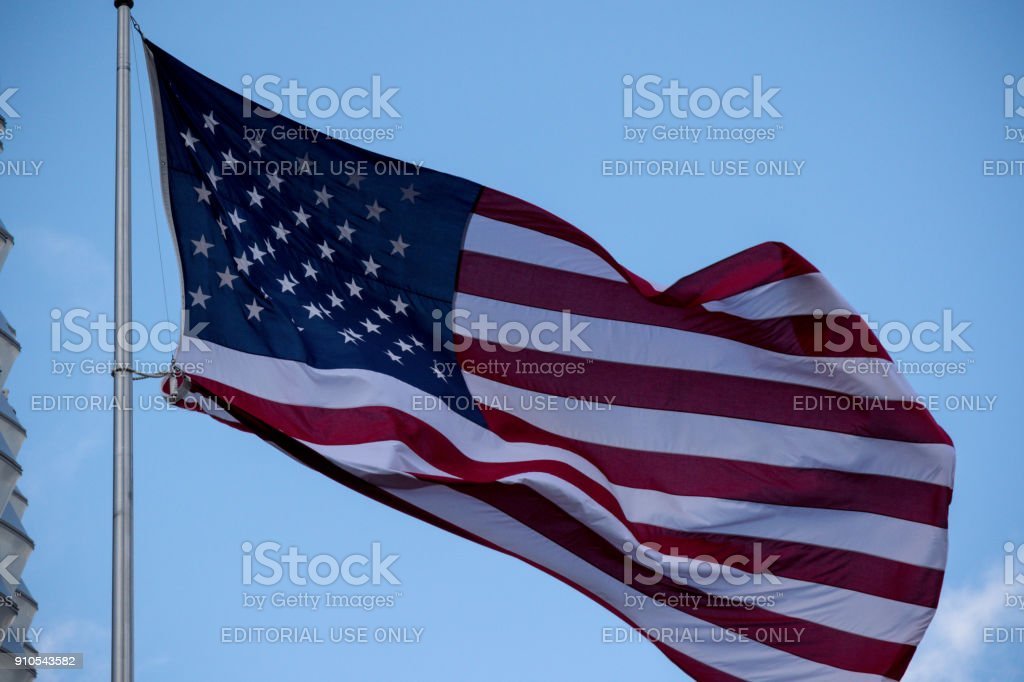The Embassy of The United States of America in London stock photo