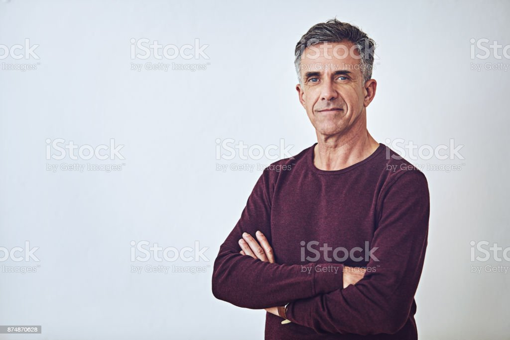 The embodiment of self confidence stock photo