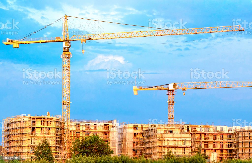 The emergence of new social housing - Royalty-free Apartment Stock Photo