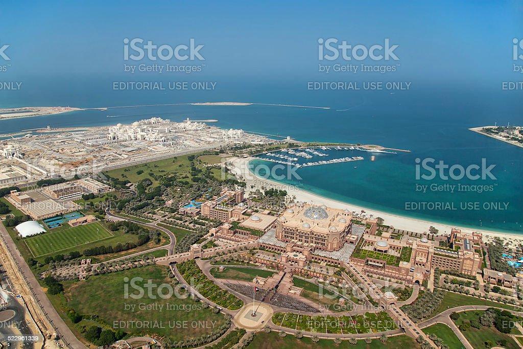The Emirates Palace Hotel, Abu Dhabi stock photo