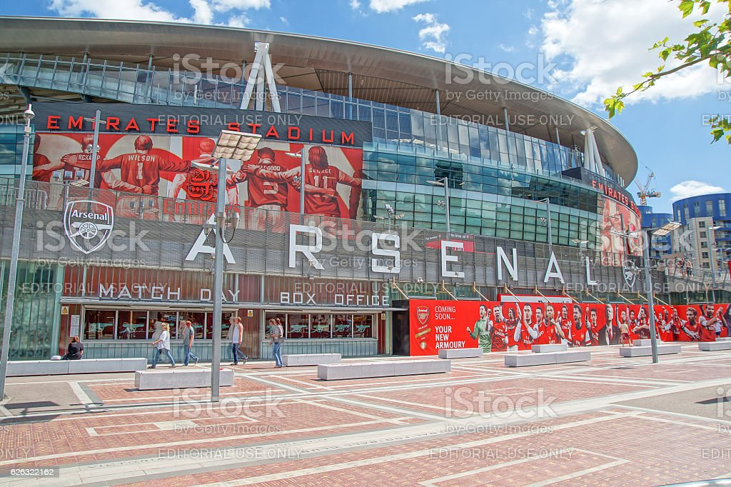 The Emirates Stadium, London stock photo