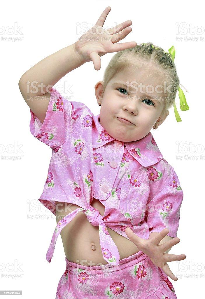 The emotional amusing child royalty-free stock photo
