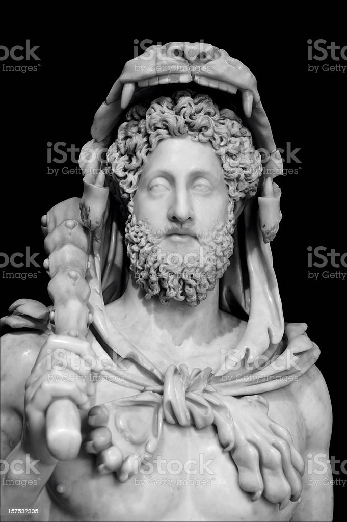 The Emperor Commodo in Hercules's dress stock photo