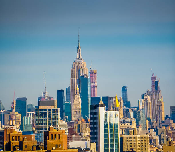 The Empire State Building and Cityscape of New York City, New York USA stock photo