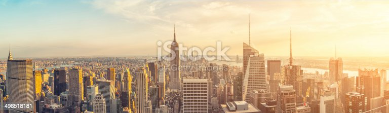 The Empire State building and manhattan panorama in NYC
