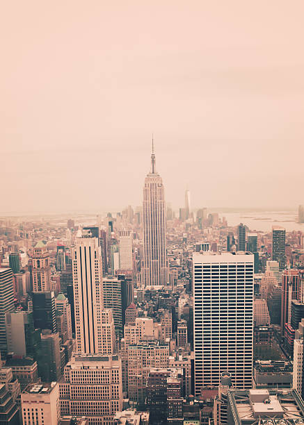 The Empire State Building and Midtown Manhattan stock photo