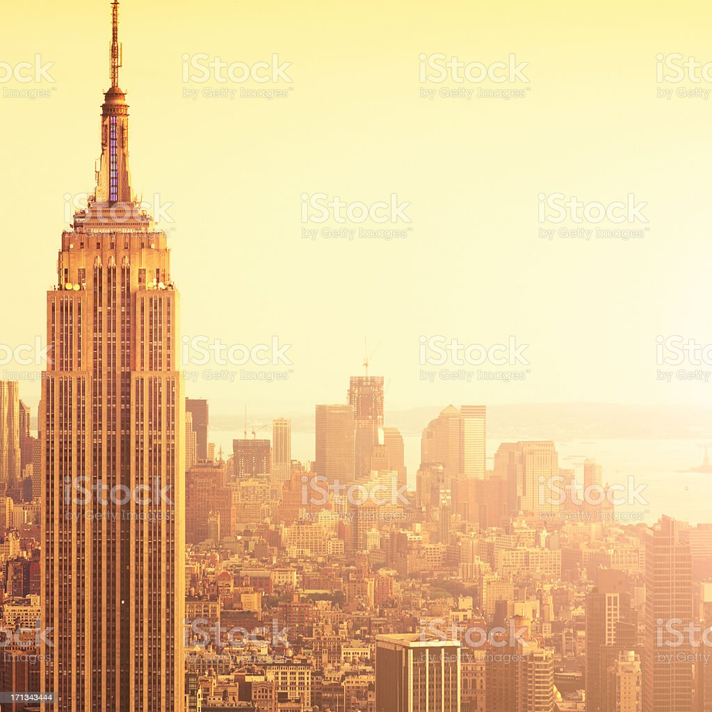 The Empire State building in NYC at sunset. royalty-free stock photo