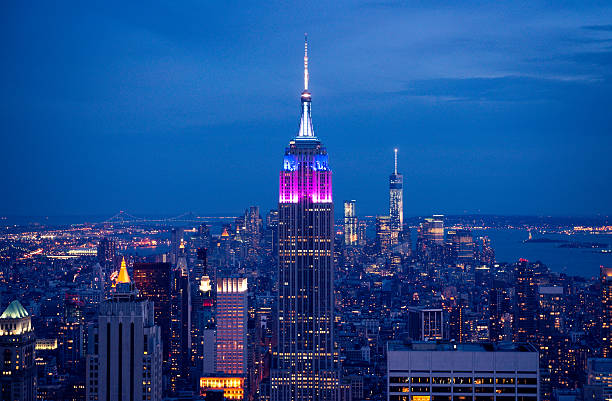 The Empire State Building The Empire State Building, Manhattan, New York City at dusk time. empire state building stock pictures, royalty-free photos & images