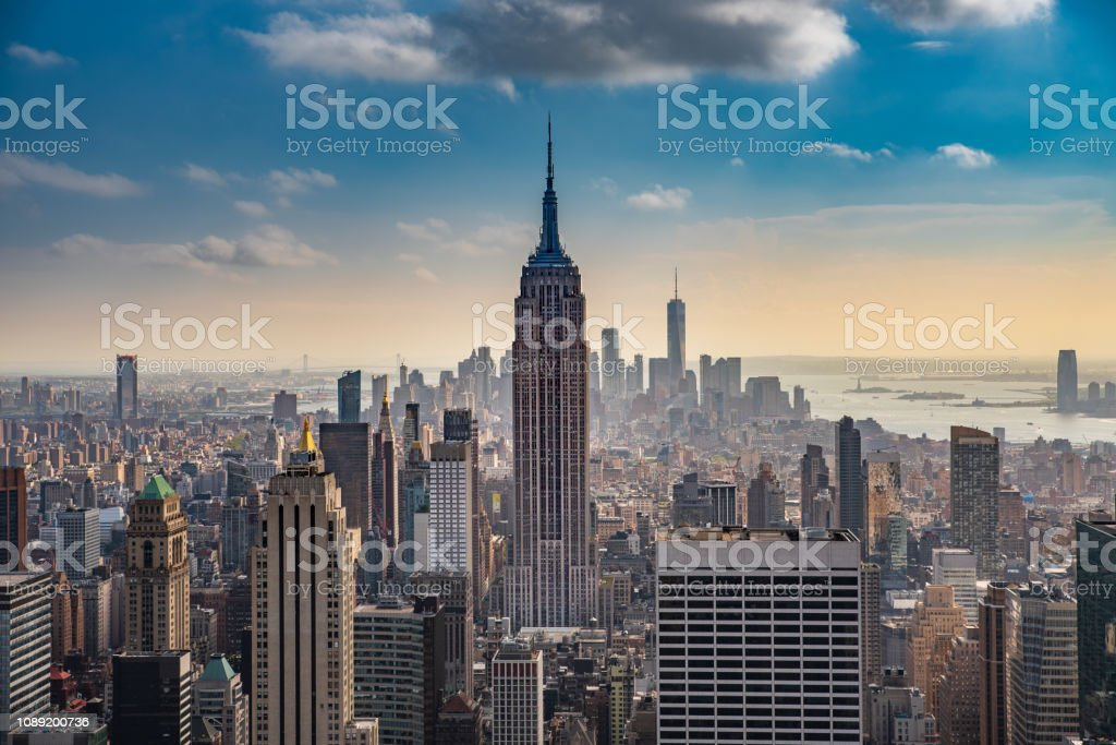 The Empire State stock photo